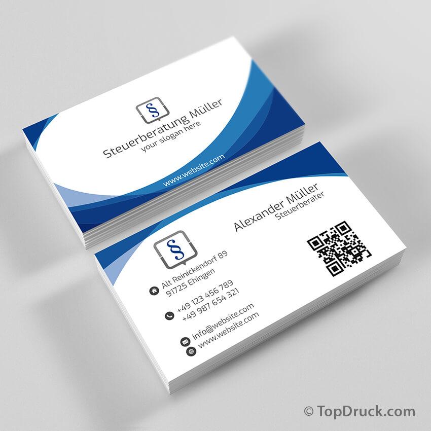 Steuerberatung Visitenkarten Design Topdruck