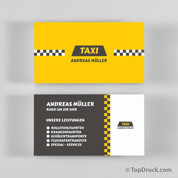 Taxi Visitenkarte drucken